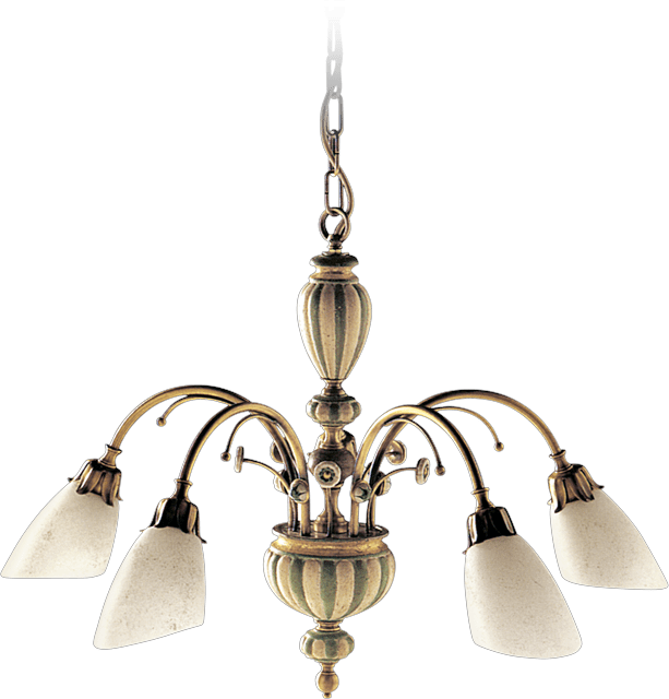 5 LIGHTS CHANDELIER WITH GLASS DIFFUSERS 02364/5