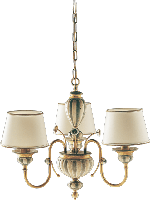 3 LIGHTS CHANDELIER WITH LAMPSHADES 02367/3