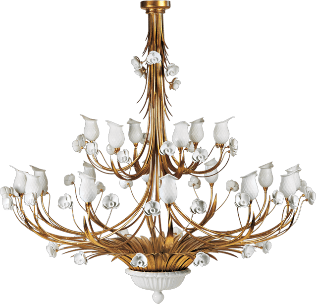 18 LIGHTS CHANDELIER WITH PORCELAIN DIFFURSERS 5320/18