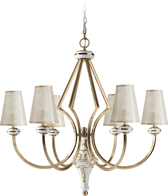 6 LIGHTS CHANDELIER 5558/6/BP