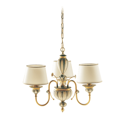 3 LIGHTS CHANDELIER WITH LAMPSHADES